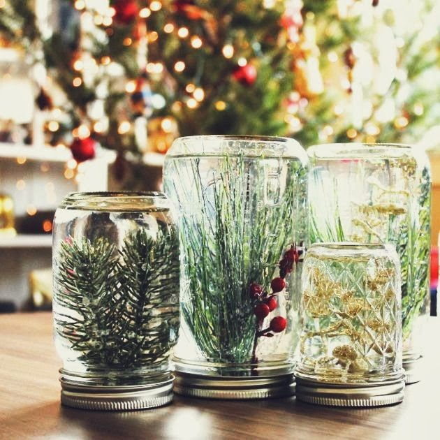 DIY Underwater Forest Jars