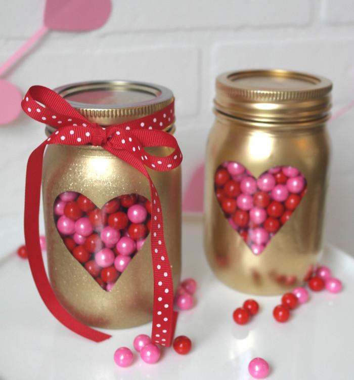 DIY Valentines day Mason Jars