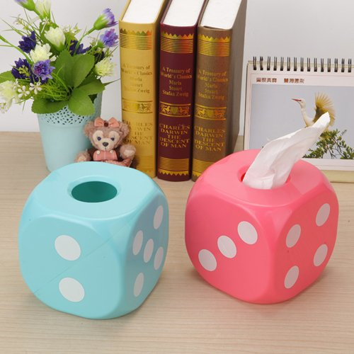 Dice Type Car Home Towel Tissue Paper Box