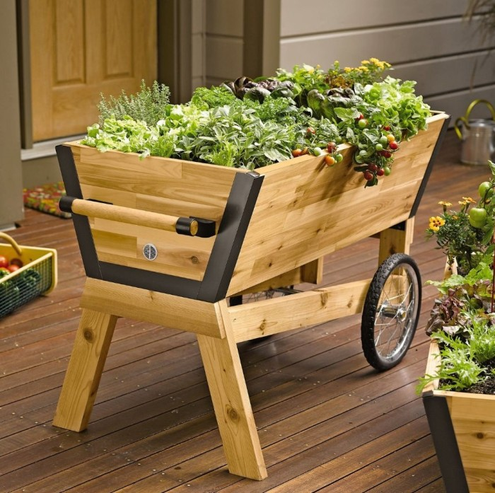 Elevated Rolling Planter