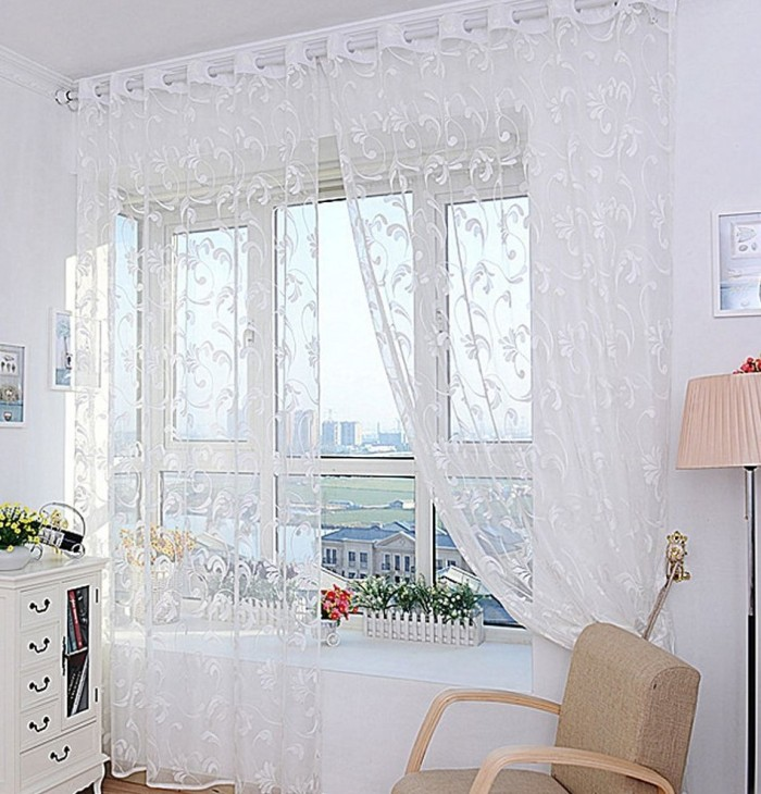 Fashion Flower Curtain Yarn for Bedroom