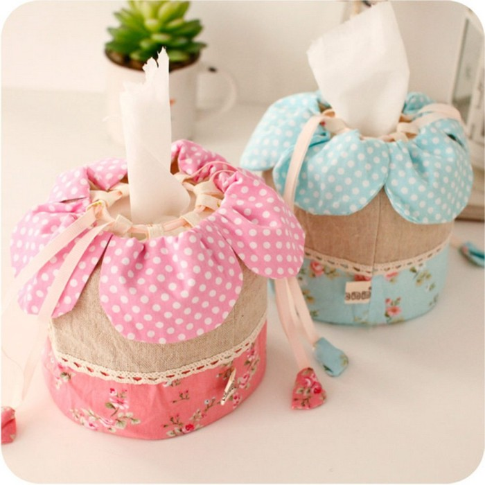 Flower Tissue Cotton Box