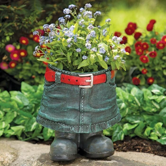 Fun Denim Skirt Planter