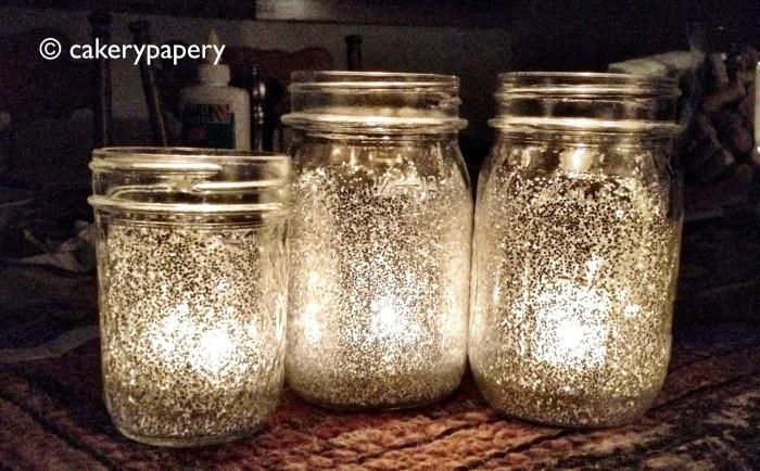 Glitter Mason Jar Candles