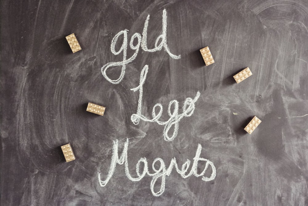 Golden Lego Magnets