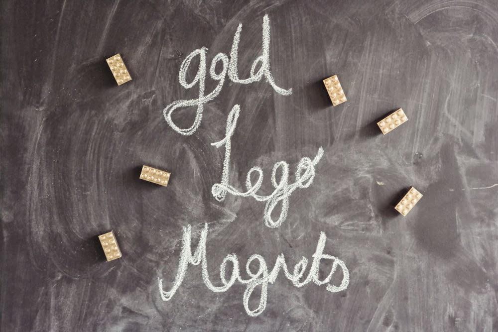 Golden Lego Magnets