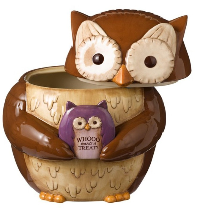 Hallow Owl Cookie Jar