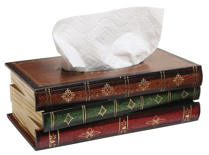 Hand Crafted Antique Book Tissue Box Dispenser