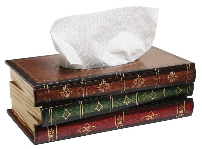 Hand Crafted Antique Book Tissue Box Dispenser