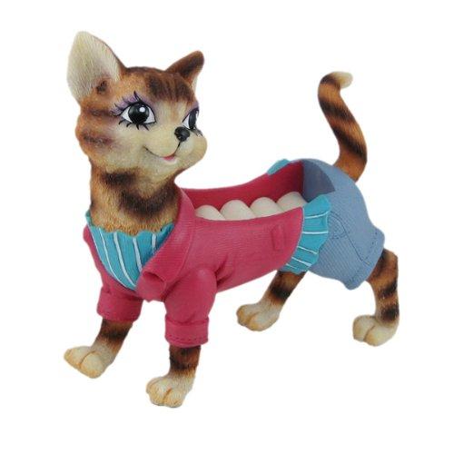 Happy Cat Figurine Ring Holder