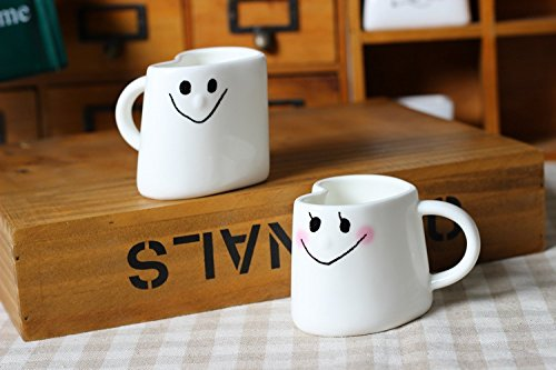 Heart Shape Couple Matching Coffee Mugs