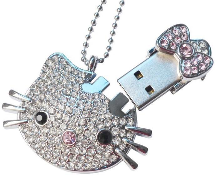Kitty Crystal Jewelry USB