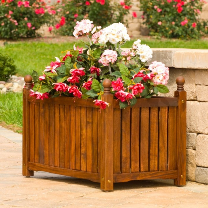 Lexington Rectangle Solid Wood Planter