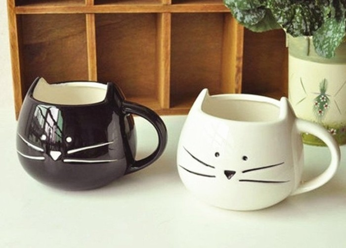 Male And Female Kitty Cat Mugs