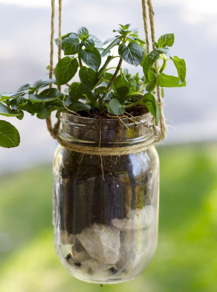 Mason Jar Hanging Planter