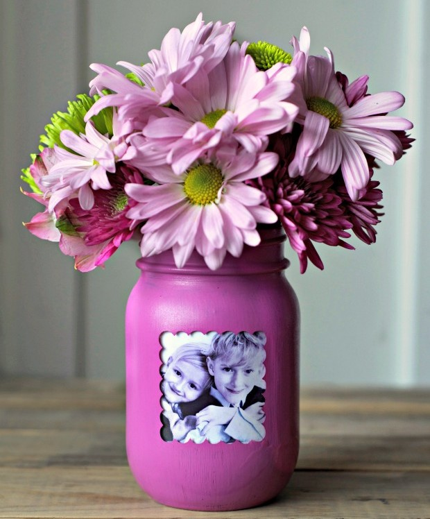 Mason Jar Vase and Frame
