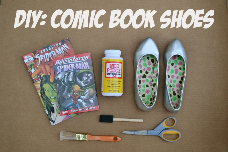 Material Required for Comic Book Shoes