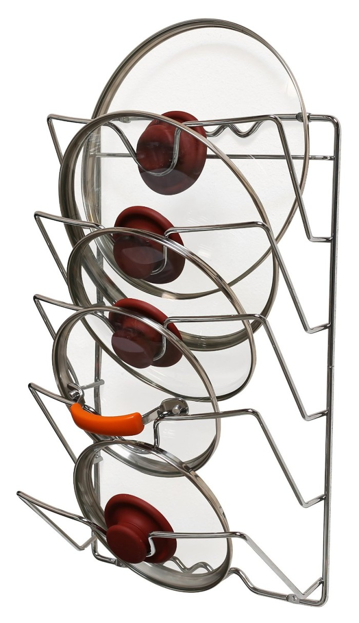 Mounted Pot Lid Rack