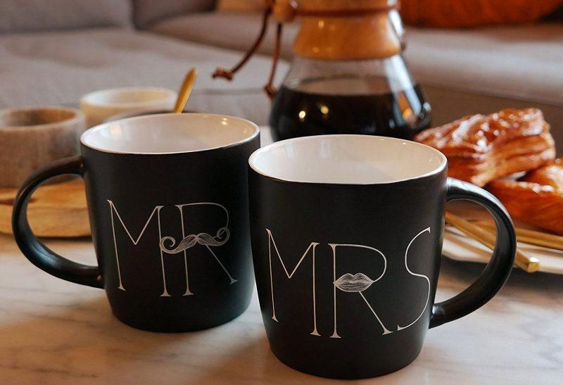 Mr and Mrs Coffee Mugs Set