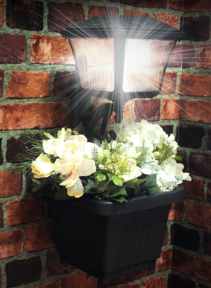 Outdoor LED Path and Garden Light Planter
