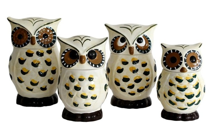 Owl Shaped Kitchen Canister Set