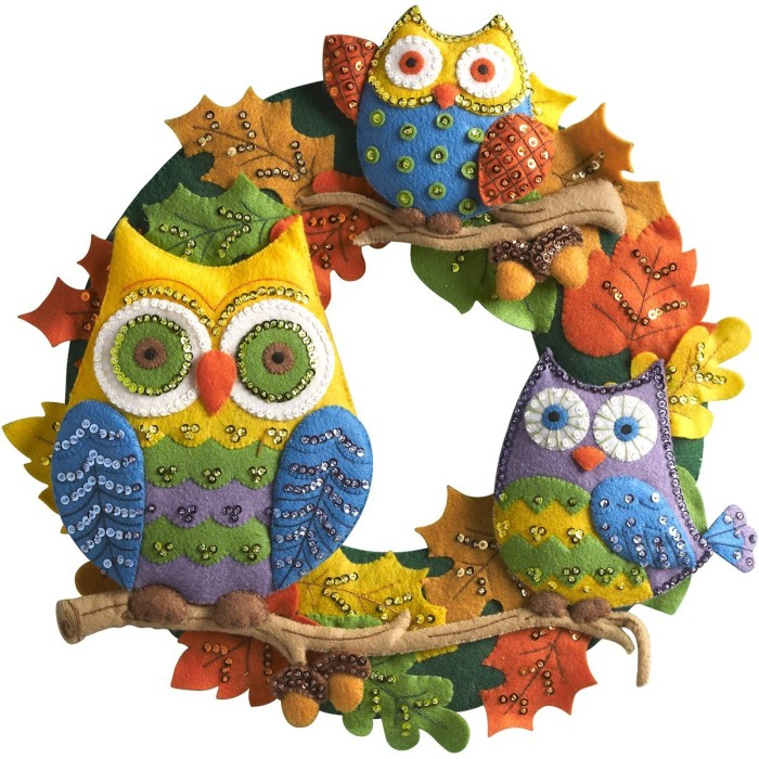 Owl Wreath Wall Hanging Kit