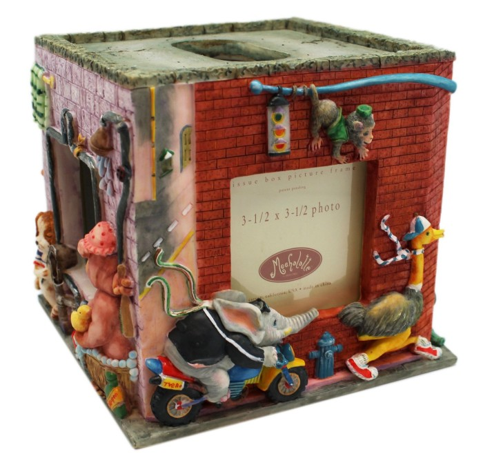 Picture Frame Tissue Box with Animal City
