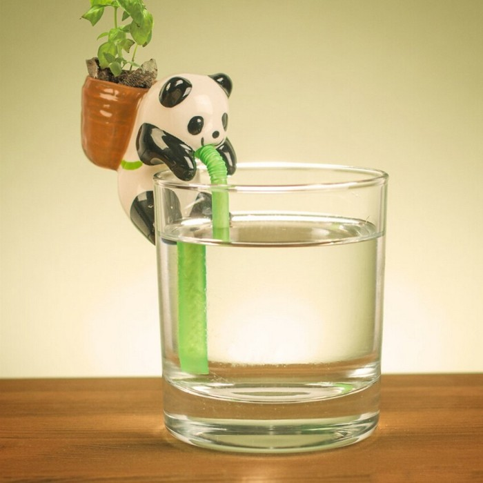 Plant Pot Planter Straw Cup