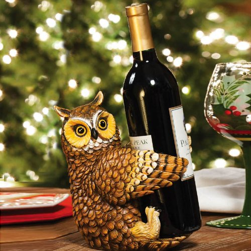 Polystone Owl Wine Bottle Holder