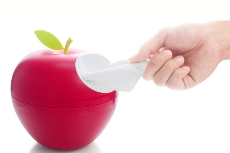 Red Apple Tissue Holder