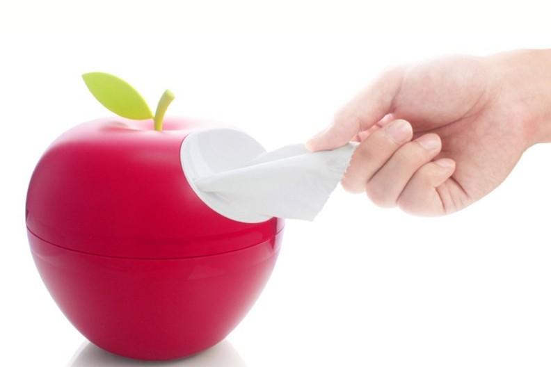 Red Apple Tissue Holder