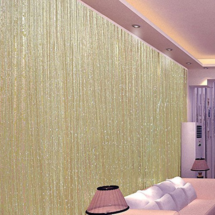 Ribbon Door String Curtain Thread Fringe Window Panel
