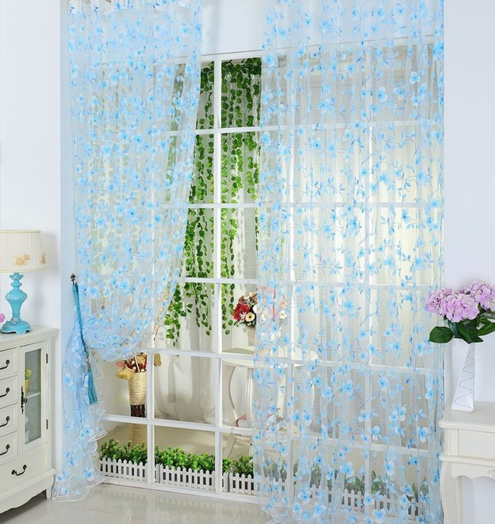 Romantic Scarf Sheer Voile Door Curtain