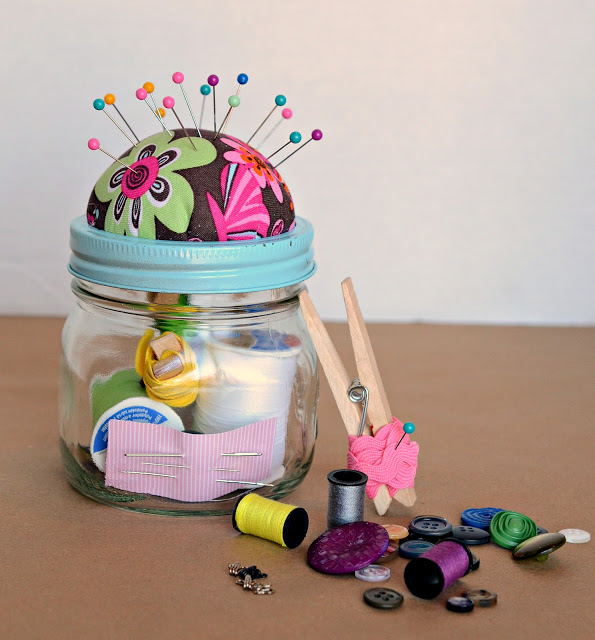 Sewing Kit Jars