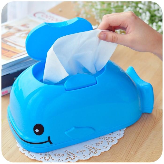 Blue Whale Tissue Box