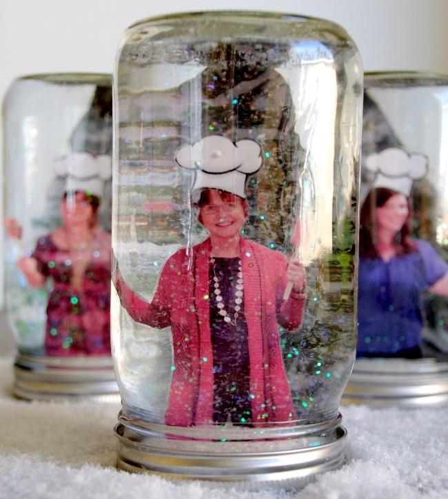 Snow Globe Mason Jar Gift