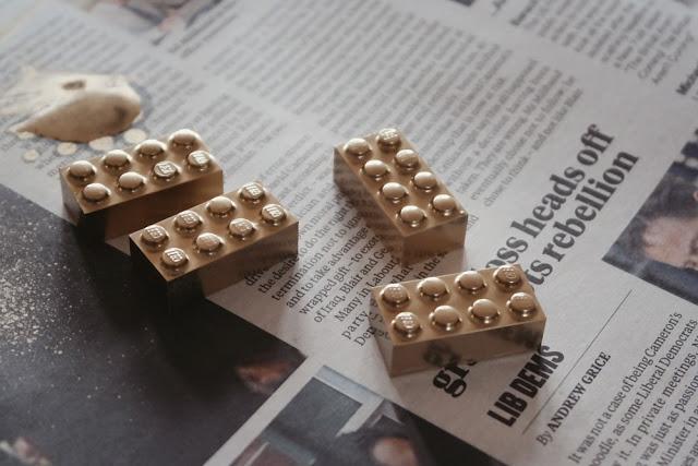 Spray on Lego Blocks