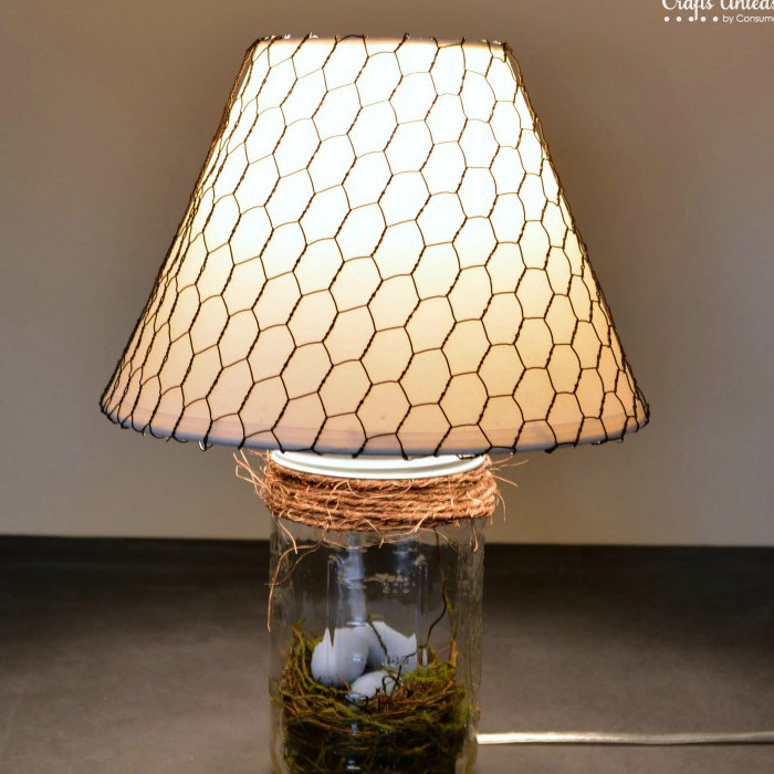 Spring Mason Jar DIY Lamp