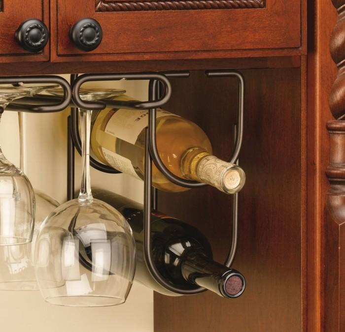 Under Cabinet Double Wine Bottle Rack