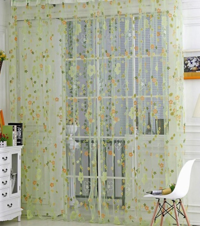 Voile Door Window Curtain