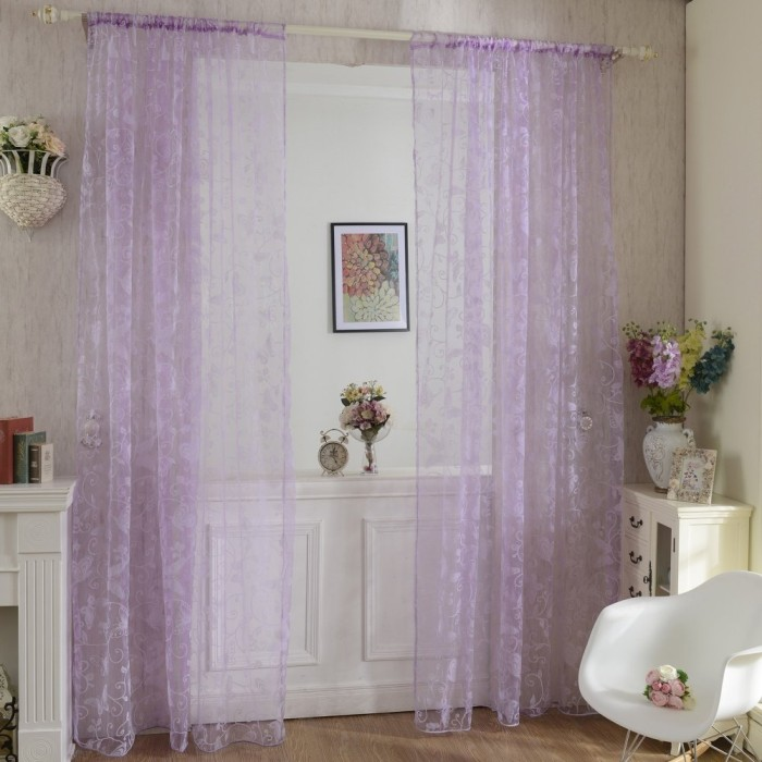 Voile Tulle Room Window Curtain