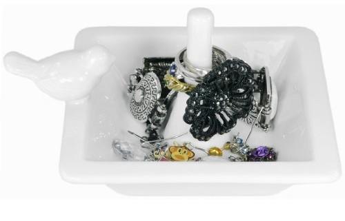 White Bird Ceramic Ring Holder