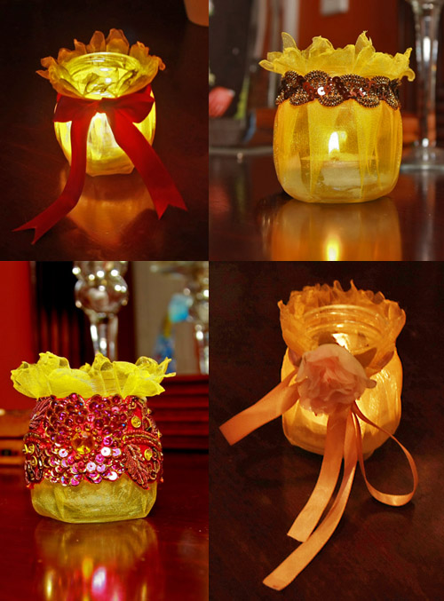Candle Holders from Baby Food Jars