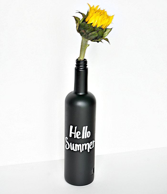 Chalk Board Wine Bottle Craft