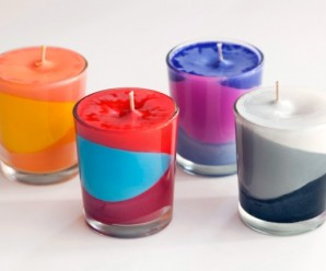 Reuse Old Crayons for Making Colorful Candles