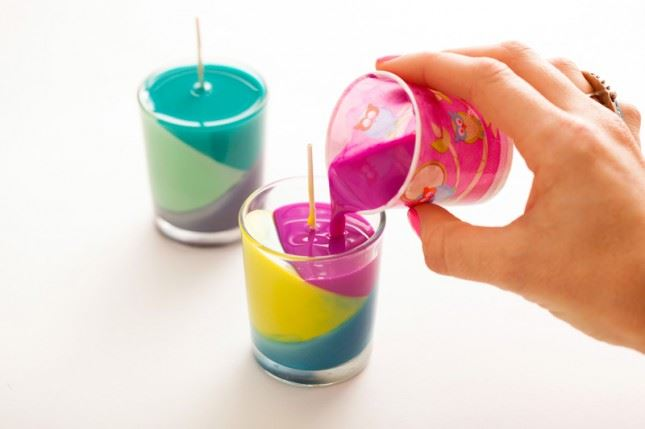 DIY Crayon Candles