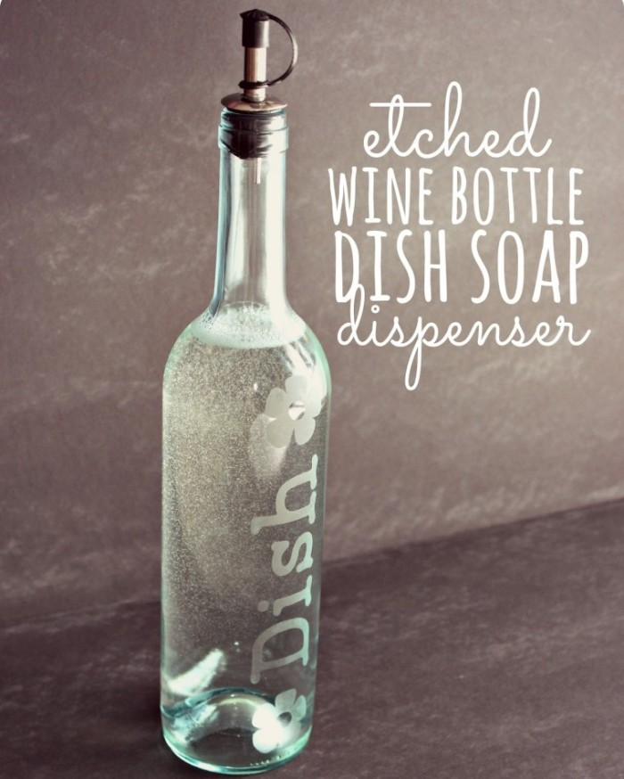 DIY Wine Bottle Soap Dispenser