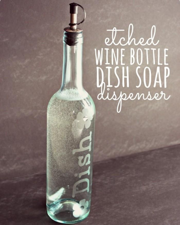 DIY Wine Bottle Soap Dispenser