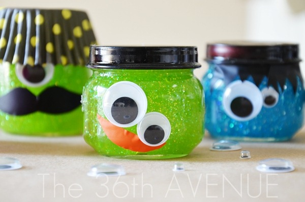 Glitter Slime with Baby Food Jars