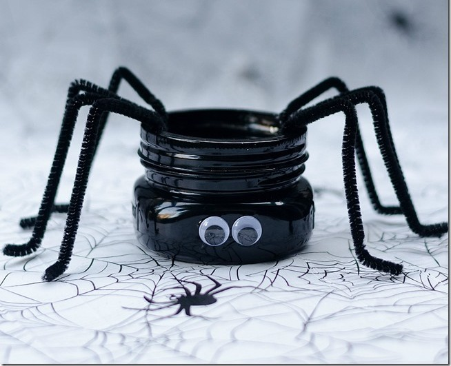 Spider Baby Food Jar